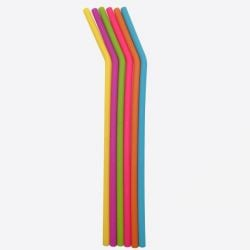 Straws Bended + Dish Brush  | Set of 6