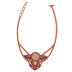 India Necklace | Caramel