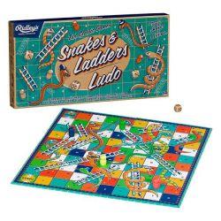 Gezelschapsspel Set van 2 | Slangen & Ladders / Ludo