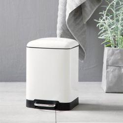 Abfallbehälter RIMINI Soft Close 6 l | Weiß