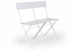 2 Seater Bench Arno | White