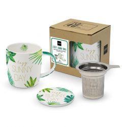 Tasse mit Deckel & Sieb CB | Dschungel