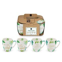 Set of 4 Mugs CB | Jungle