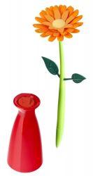 Stylo avec Vase Fleurs | Orange