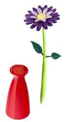 Stylo avec Vase Fleurs | Violette
