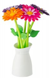 Vase with Set of 5 Pens Flower | Multi