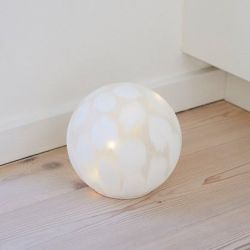 Cloudy Glass Lamp Ø 15 cm