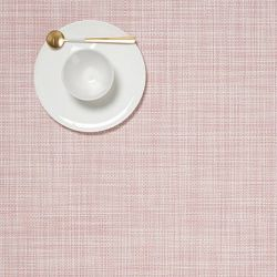 Rectangle Placemat | Vinyl Mini Basketweave | Blush