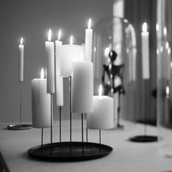 Bougeoir Multi Candle Pin | Noir