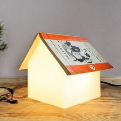 Lampe de Nuit / Support Livre Maison