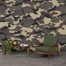 Akustische Tapete BuzziSkin Printed | Camouflage Taiga