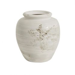 Ceramic Flower Pot | White