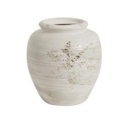 Keramischer Blumentopf | Weiß