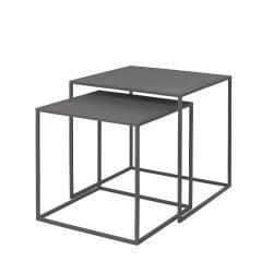Set de 2 Tables d'Appoint Fera | Gris Acier