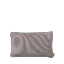 Cushion Cover RIBB 30 x 50 cm | Bark/Mourning Dove