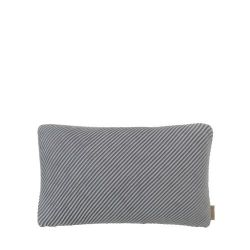 Cushion Cover RIBB 30 x 50 cm | Pewter/Mourning Dove