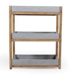 Shelf Woodford 2 Compartments | Grey