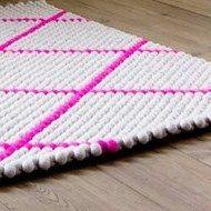 Dot-Teppich Hot Pink