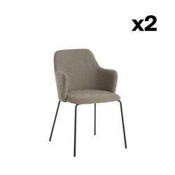 Chaise à Diner Oslo | Gris / Points Noir