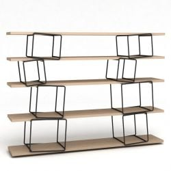 Quake Shelves Black & Oak