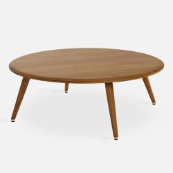 Round Coffee Table Fox | Dark Wood