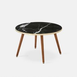 Round Coffee Table Fox Marble | Black