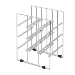 Wine Bottle Rack Pilare | 9 Bottles | Nickel-Plated Steel