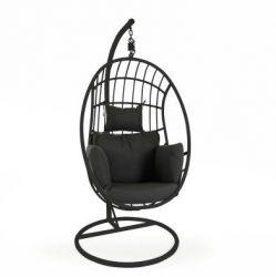 Palo Hangstoel met Kussen | Zwart