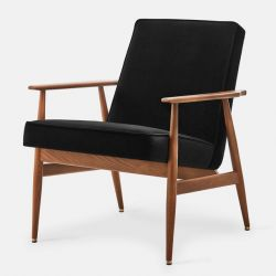 Armchair Fox Velvet | Dark Wood & Black