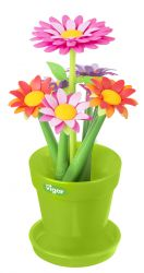 Vase with Set of 6 Pens Flower | Multi