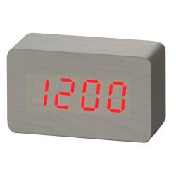 Alarm Clock Wood | White