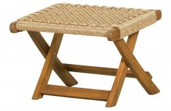 Outdoor Foldable Footstool Lois | Natural