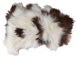 Schafsfell Teppich Bio | Braun & Weiß