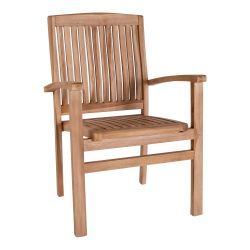 Outdoor Dining Chair Mallorca Teak | Light Wood