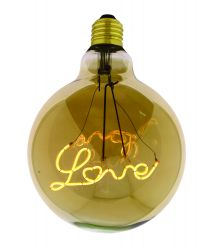 Light Bulb Curved Down Love Maxi | Gold