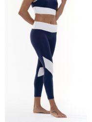 Sport Legging Yoga Details | Marineblauw