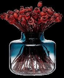 Magnolia Vase 240/200 mm | Blue Top