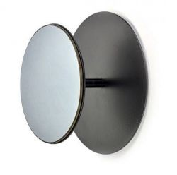 Miroir Portemanteau 30 cm Studio Simple | Noir