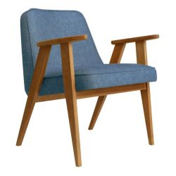 Armchair 366 Loft | Natural Oak & Denim Blue