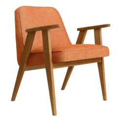 Armchair 366 Loft | Natural Oak & Mandarin Orange