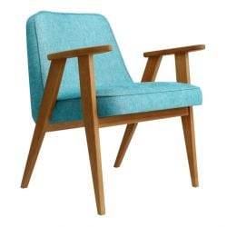 Armchair 366 Loft | Natural Oak & Turquoise