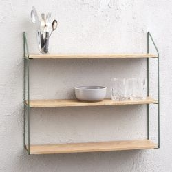 Wall Rack 3 Shelves | Green