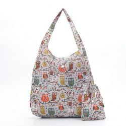 Shopping Bag | Owls | Grey