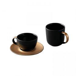 Dreiteiliges Kaffee und Tee Gem | Scwharz