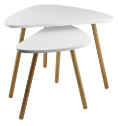 Tables d'Appoint Set de 2 | Blanc