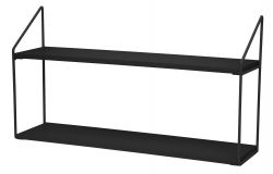 Wall Rack 2 Shelves | Black