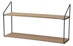 Wall Rack 2 Shelves | Natural