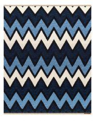 Teppich Zack | Blau