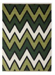 Teppich Zack | Grün