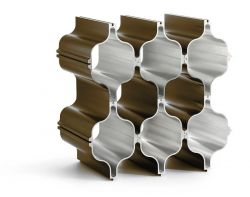 Aluminium Wein-Regal Hex | Bronze